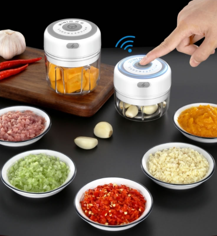 shopify-Quick Chop Powered Herbs,Veggie Chopper And Salsa Maker-1