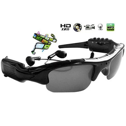 Video Recording Sunglasses with MP3 player let the action begin - VistaShops - 1