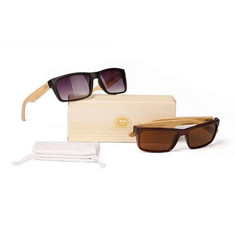Wanderlust Sunglasses  Eco Friendly, Made from Bamboo Wood and Recycled plastic material