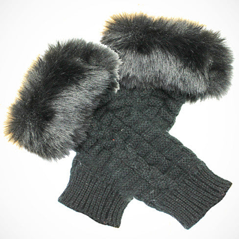 Pretty Warmers - Faux Fur Gloves for Winter - VistaShops - 1
