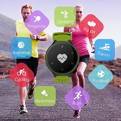 Smart Fit Sporty Waterproof Watch W/ Active Heart Rate and Blood Pressure Monitor