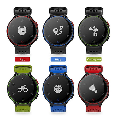 Smart Fit Sporty Waterproof Watch W/ Active Heart and Blood Pressure Monitor