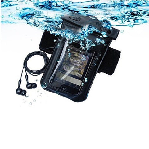Waterproof Bag for you Smartphone with Music Out Jack and Waterproof Headphones