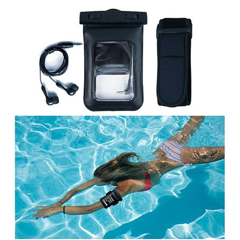 Waterproof Bag for you Smartphone with Music Out Jack and Waterproof Headphones - VistaShops - 3