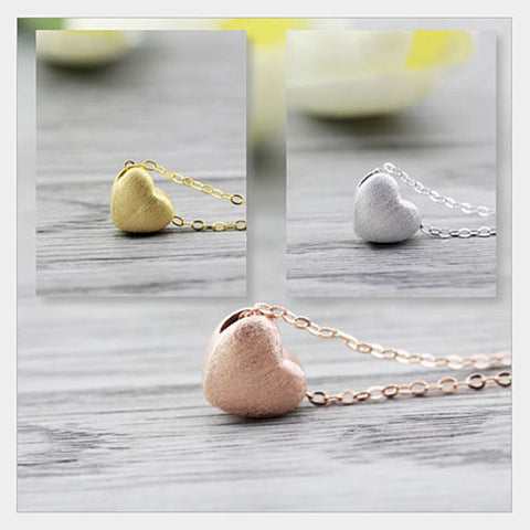 Weathered Heart Pendant & Necklace by Evabella Collections - VistaShops - 2