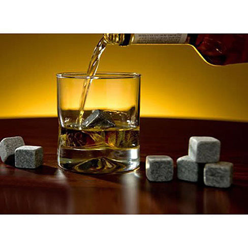 Whiskey on THE ROCKS - Pure Soapstone Rocks set of 9 - VistaShops