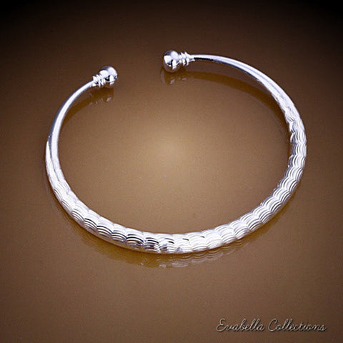 White Clouds - Cuff Bracelet by Evabella Collections