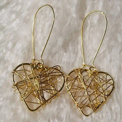 Wrapped in Harmony And Simplicity The Retro Style 2 Pairs Of Heart and Circle Earrings - VistaShops - 1