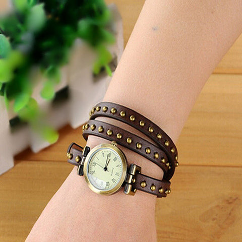 Wrap belt watch bracelet - VistaShops - 1