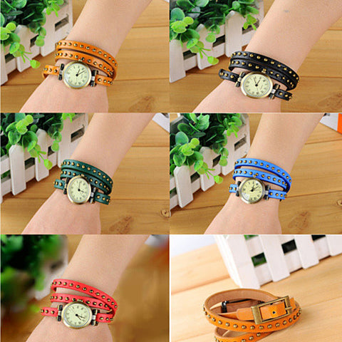Wrap belt watch bracelet - VistaShops - 2