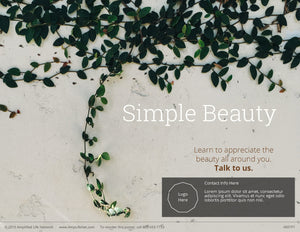 Simple Beauty poster (4601P1)-black