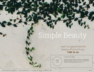 Simple Beauty poster (4601P1)-clear