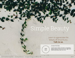 Simple Beauty poster (4601P1)-white
