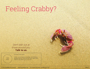 Feeling Crabby poster (4602P1)-clear