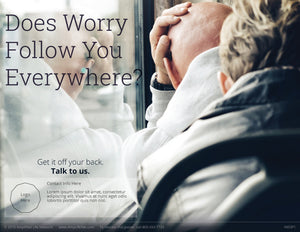Worry poster (4603P1)-white