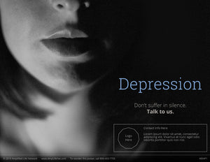 Depression, Don't Suffer poster (4604P1)-clear