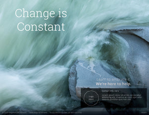 Change Is Constant poster (4606P1)-black