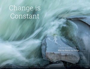 Change Is Constant poster (4606P1)-clear