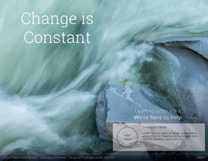 Change Is Constant poster (4606P1)-white