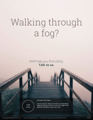 Walking Through A Fog poster (4607P1)-black