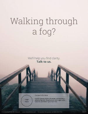 Walking Through A Fog poster (4607P1)-white