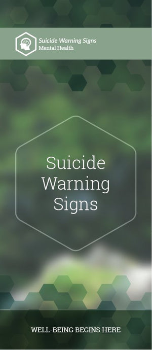 Suicide Warning Signs pamphlet/brochure (6089M1)