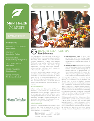 Print Copies for MHM Newsletter (830_PC)
