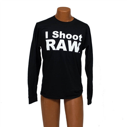I SHOOT RAW - Long Sleeve Black