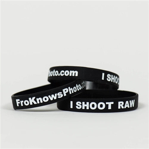 Three I SHOOT RAW wristbands - Standard