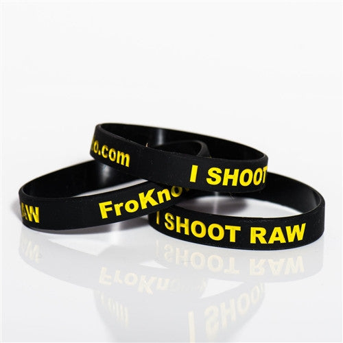 Three I SHOOT RAW wristbands - Nikon