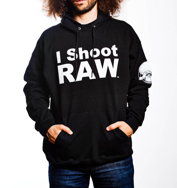 I SHOOT RAW - Hoodie - Black - froknowsphoto