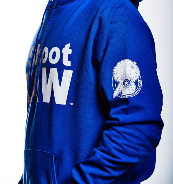 I SHOOT RAW - Hoodie - Blue - froknowsphoto