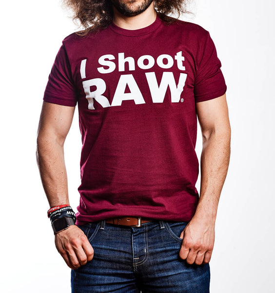 Original I SHOOT RAW Maroon - froknowsphoto
