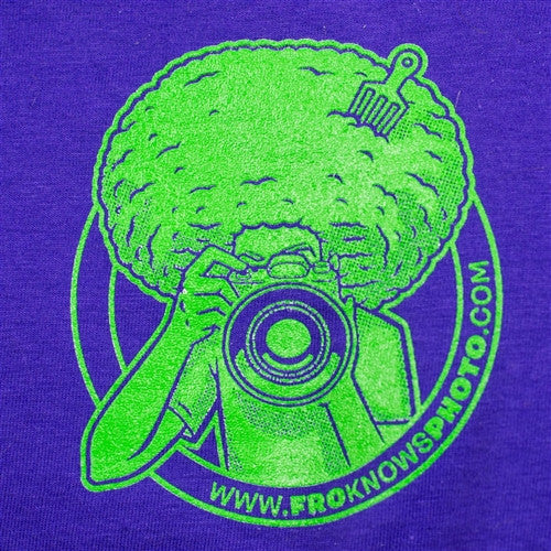 NEW Purple I SHOOT RAW with Lime Green Printing