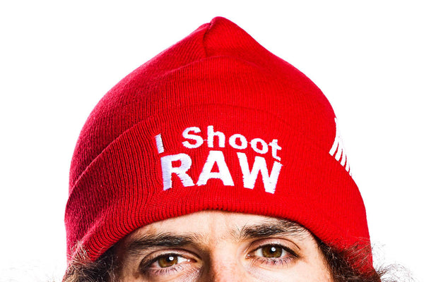 I Shoot Raw Winter Hat - Red