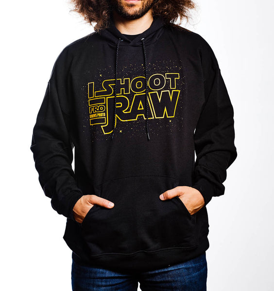 I SHOOT RAW - Hoodie - Space SALE - froknowsphoto
