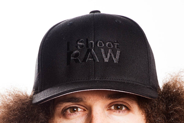 Stealth I SHOOT RAW Hat - Black BACK IN STOCK - froknowsphoto