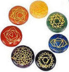 Chakra Stones from India - Set of 7 for Use with Body Tuners - SomaEnergetics Sound Tools & Training