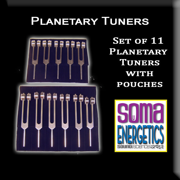 Planetary Tuners: Set of 11 Tuning Forks that Align with the Planets! - SomaEnergetics Sound Tools & Training