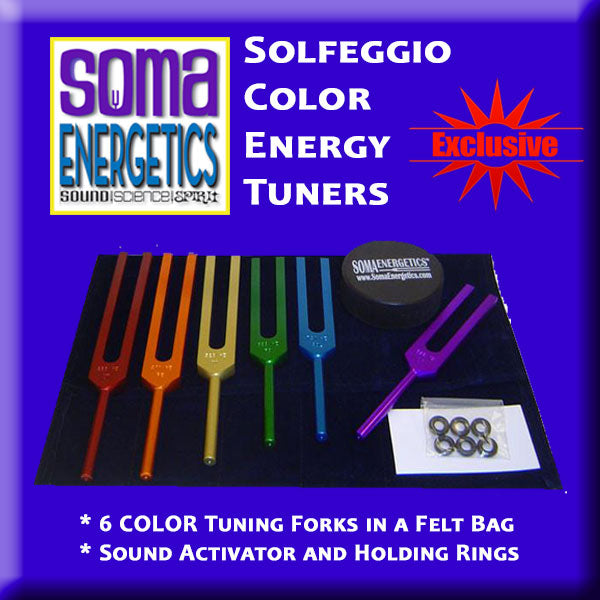 Solfeggio Energy Tuners - Etheric Color Tuning Forks!
