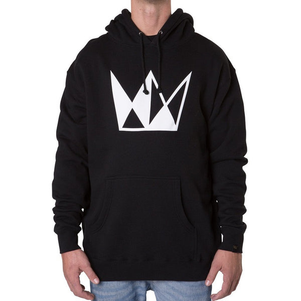 Cannabis Hoodie CURE Embroidered White Crown
