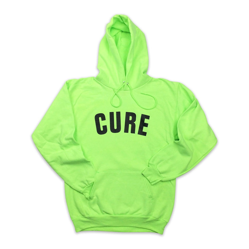 Cannabis Hoodie Cure Neon Green Black Arc