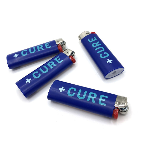 Cannabis Lighter CURE Blues Logo