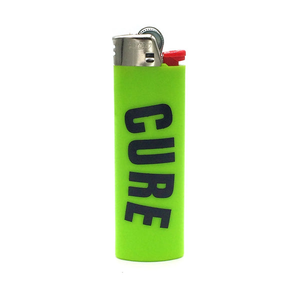 Cannabis Lighter Neon Green Black Arc