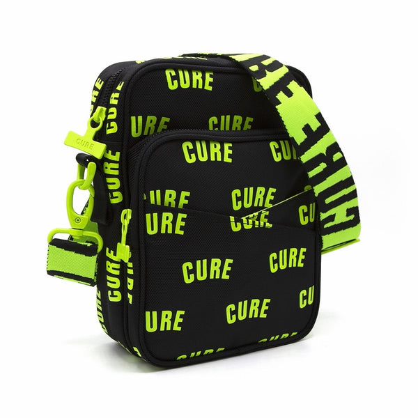 Cannabis Mini Messenger Bag Cure Black Toxic