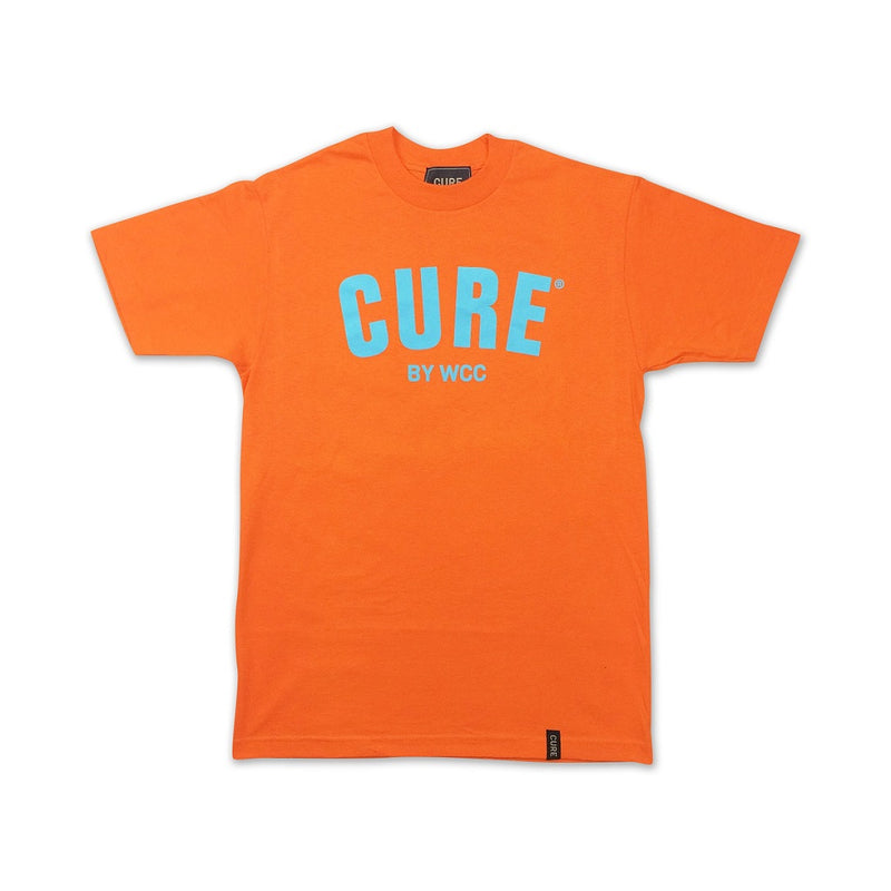 Cannabis Tee CURE Orange/Blue