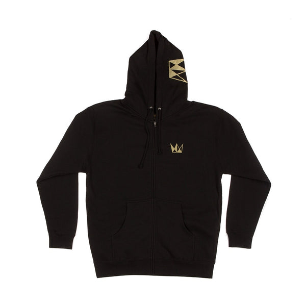 Cannabis Zip Up Hoodie CURE Gold Crown