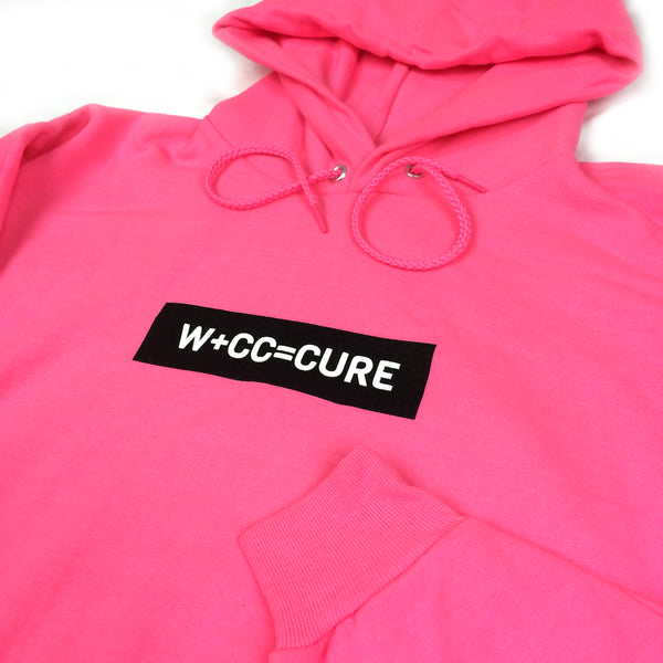 W+CC=CURE Raised Ink Hood - Neon Pink