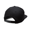 Black Solid Snapback Hat (Black Crown)
