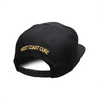 Black Solid Snapback Hat (Gold Crown)